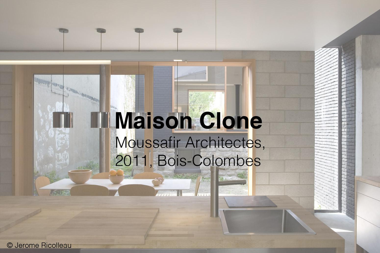 Architecture intérieure Maison Clone - Jerome RICOLLEAUJerome RICOLLEAU