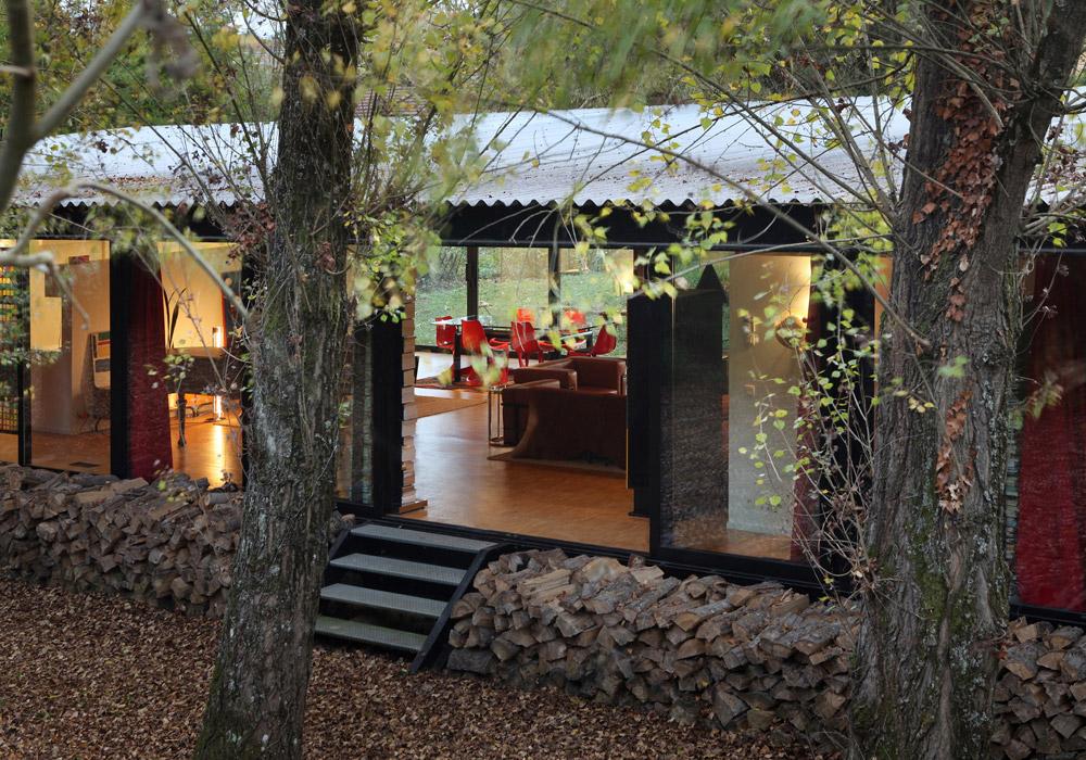 barres coquet maison verre transparente ossature metallique chatillon azergues 9 jerome. Black Bedroom Furniture Sets. Home Design Ideas